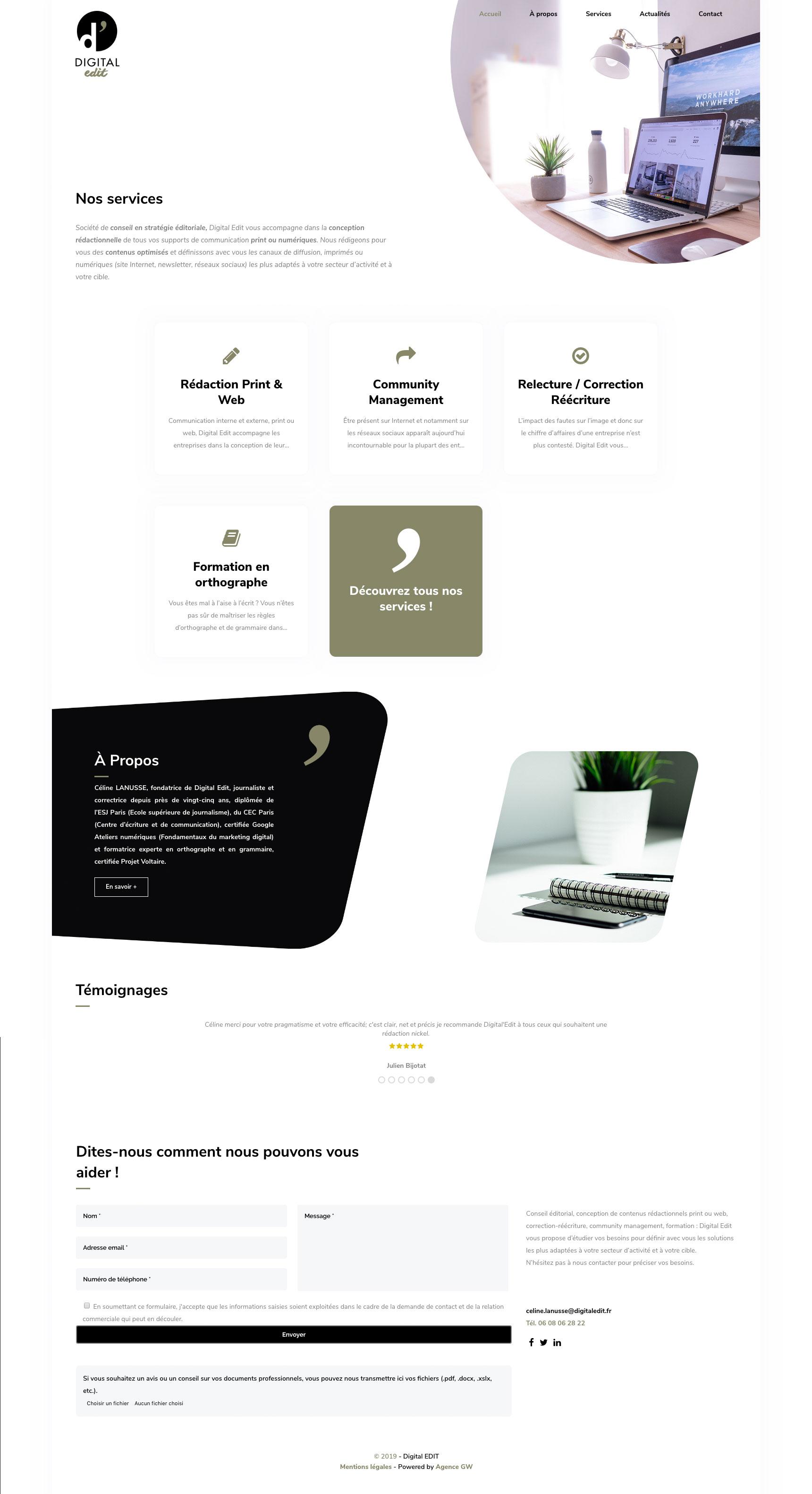 Site web digital edit
